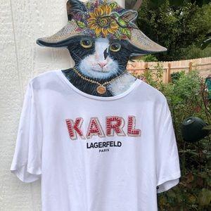 Karl Lagerfeld TOP CUTE!!  NWT XL Embellished